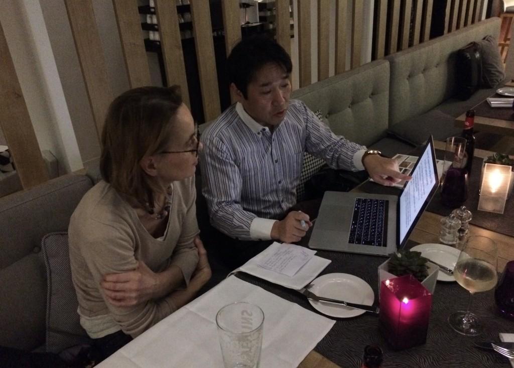 Christiane and Taro with DWIBS